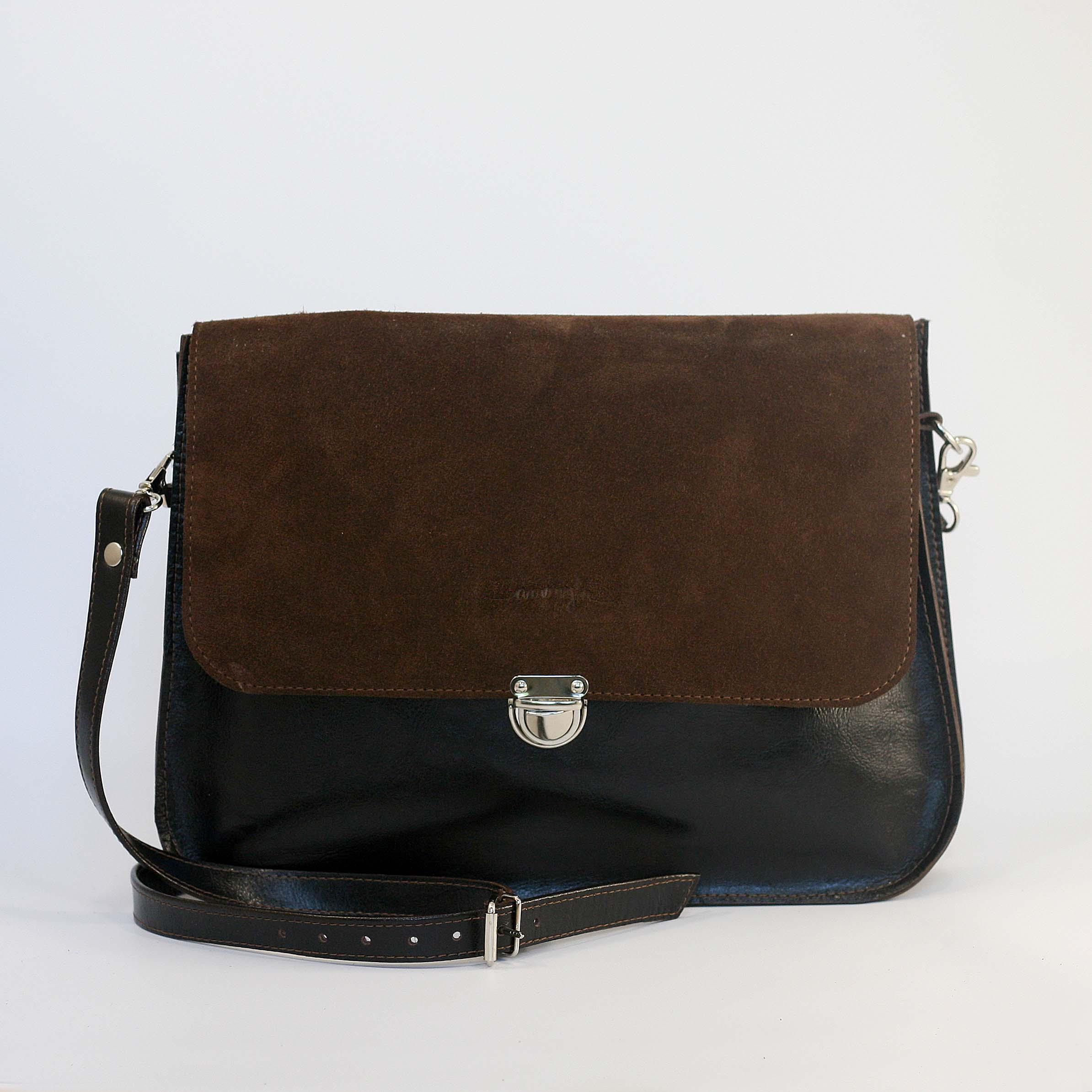 Kožená kabelka Vanessa (hnedo-hnedá) 4bbaa6795ff