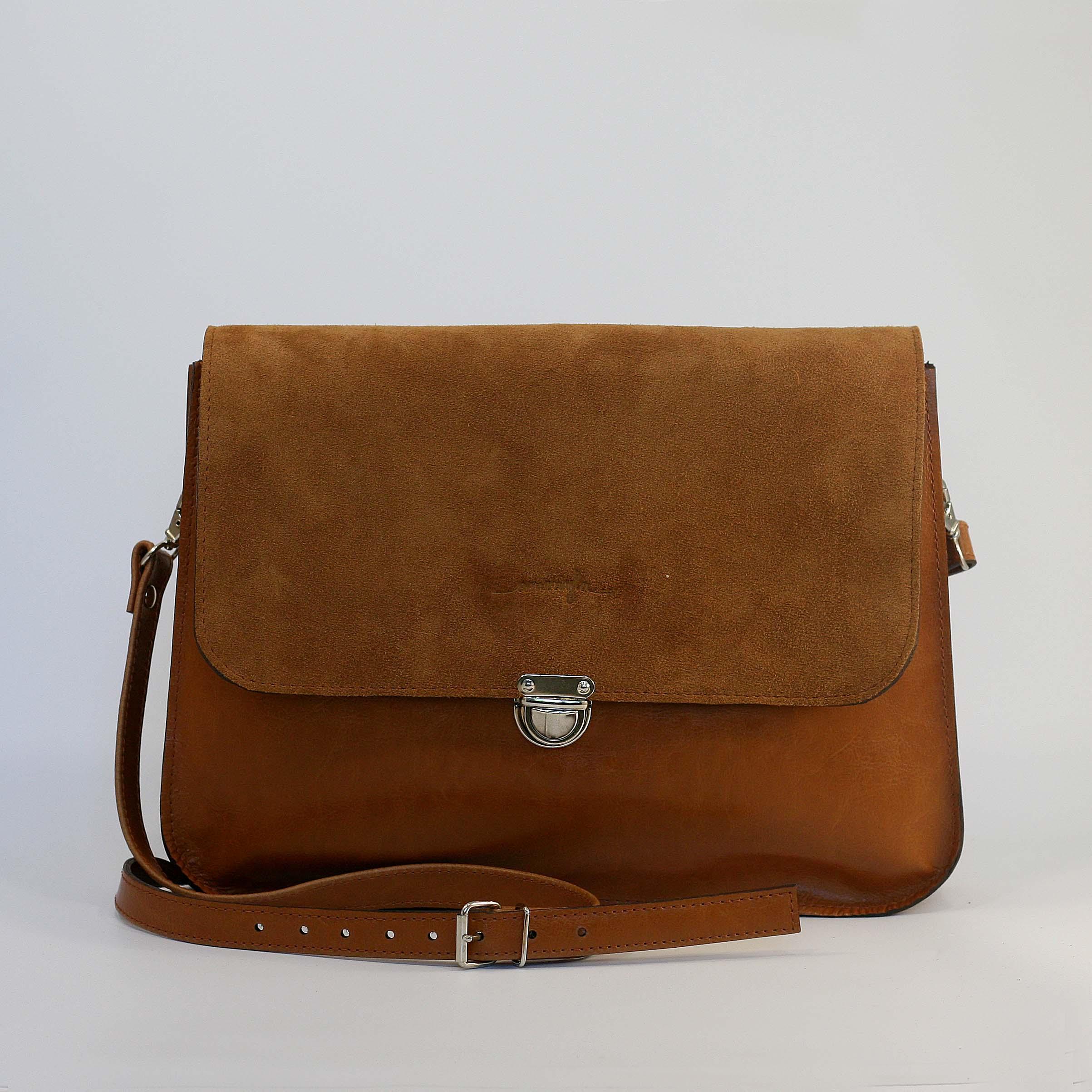 Kožená kabelka Vanessa (koňaková hnedá) 2c8c811a6fa
